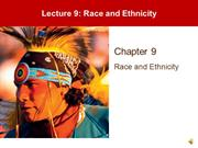 Lecture 9 - Race Ethnicity