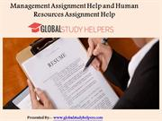 Management Assignment Help and Human Resources Assignment Help