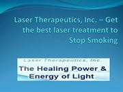 Laser Therapeutics, Inc. - Best laser treatment to Stop Smoking