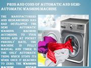 Pros And Cons Of Automatic And Semi-automatic Washing Machine