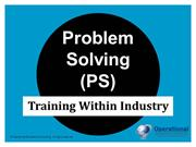 TWI Program: Problem Solving (PS) Training