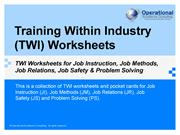 TWI Worksheets