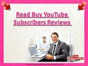 Purchase YouTube Subscribers to Get Real Subscribers