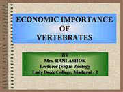 Economic Importance of Vertebrates