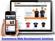 E commerce Web Solutions and  E commerce website development services