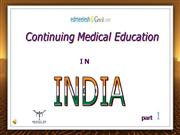 Continuing Medical education in India