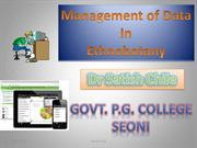 Management of data inEthnobotany