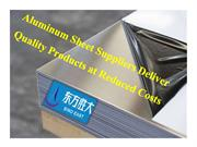 Aluminum Sheet Suppliers Deliver Quality Products at Reduced Costs