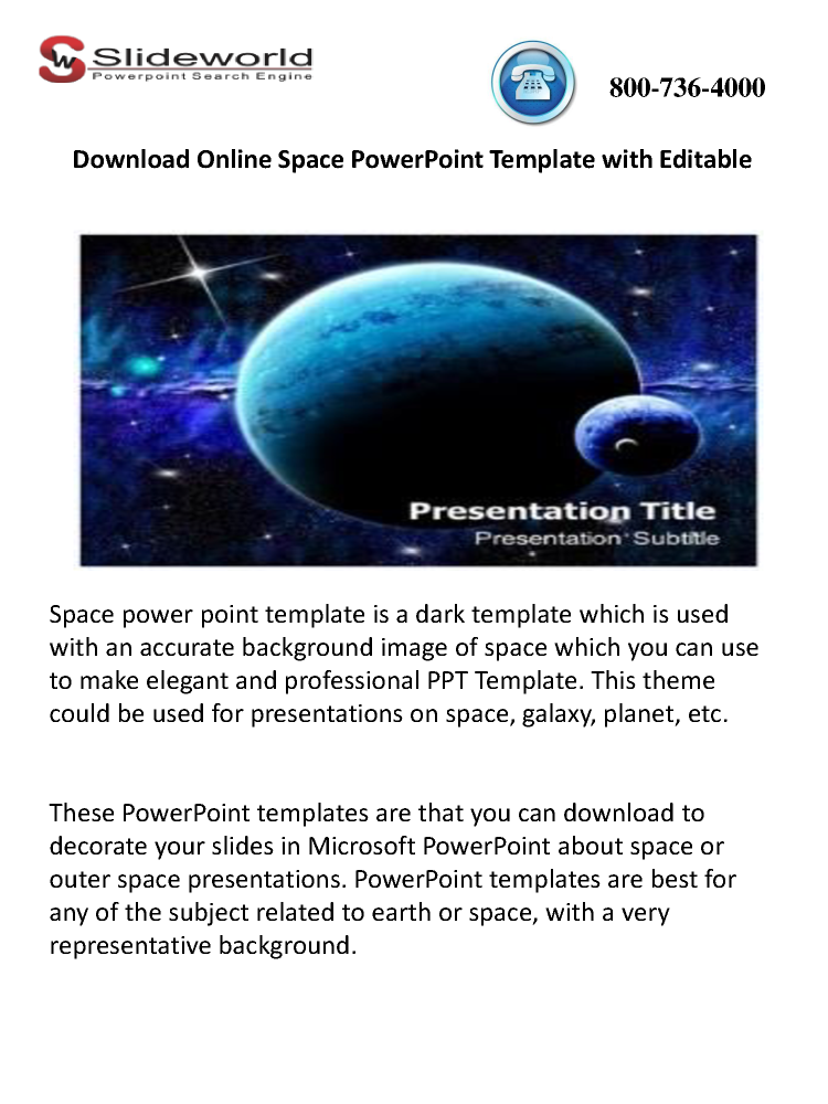 Download online space powerpoint template with editable authorstream toneelgroepblik Choice Image