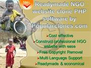 Readymade NGO website Script php software by Popularclones