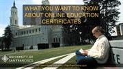 What you wanted to know about online education and certificates