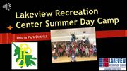 Lakeview Recreation Summer Camp 2016
