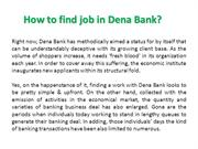 How to find job in Dena Bank?