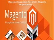 Magento Essentials For Clean Magento Programmers