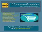 E Commerce Companies, Web Development Company in Delhi