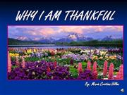 WHY I AM THANKFUL