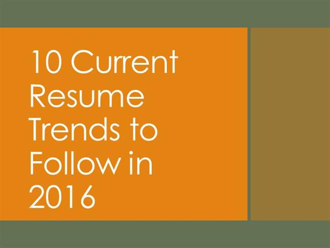 10 current resume trends to follow in 2016 authorstream