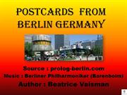 POSTCARDS  FROM  BERLIN GERMANY