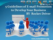 Rocket Driver - Rules of Email Marketing to improve your business.