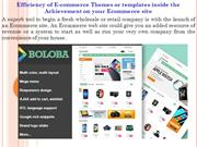 Efficiency of E-commerce Themes or templates inside the Achievement on