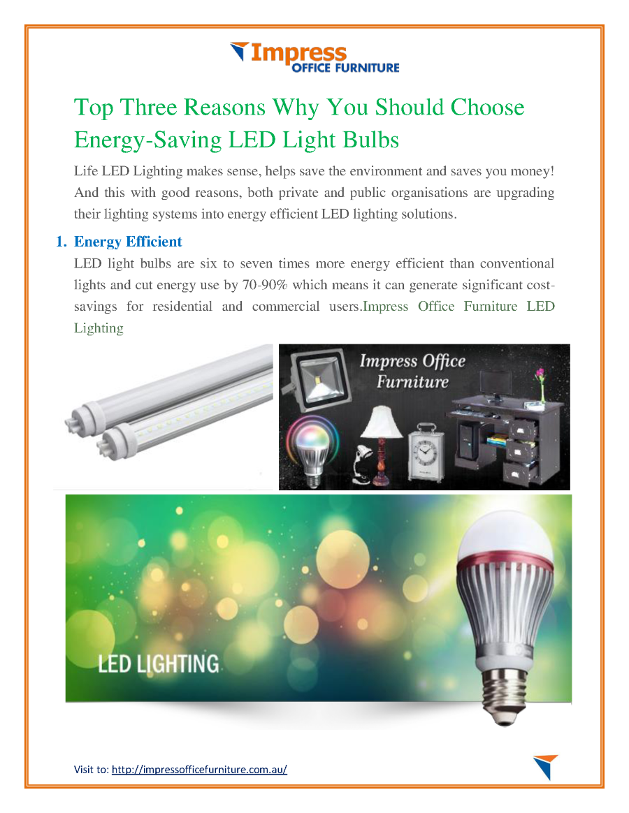 Top Three Reasons Why You Should Choose Energy-Saving LED ...