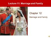 Lecture 11 - Family and Marriage