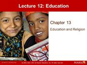 Lecture 12- Education