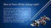 How to Turn Off the Airbag Light?
