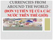 CURRENCIES AROUND THE WORLD - final