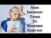Jonathan Eborn -Some Important things to remember everyday