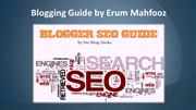 Blogging Guide by Erum Mahfooz