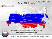 Map Of Russia Powerpoint Template Background