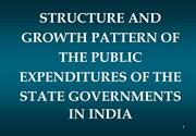 Growth pattern of Public expenditures of state governments of India