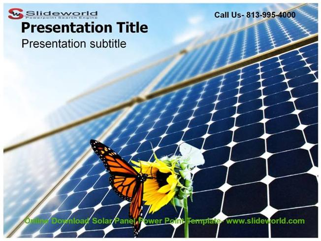 online download solar panel powerpoint template |authorstream, Powerpoint templates