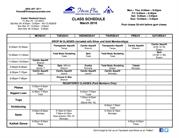 Mar 2016 Class Schedule -Best Physio