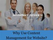 Why Use Content Management for Website?