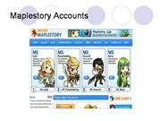 Maplestory Accounts