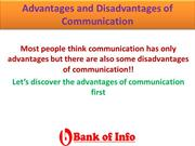 Advantages and Disadvantages of Communication