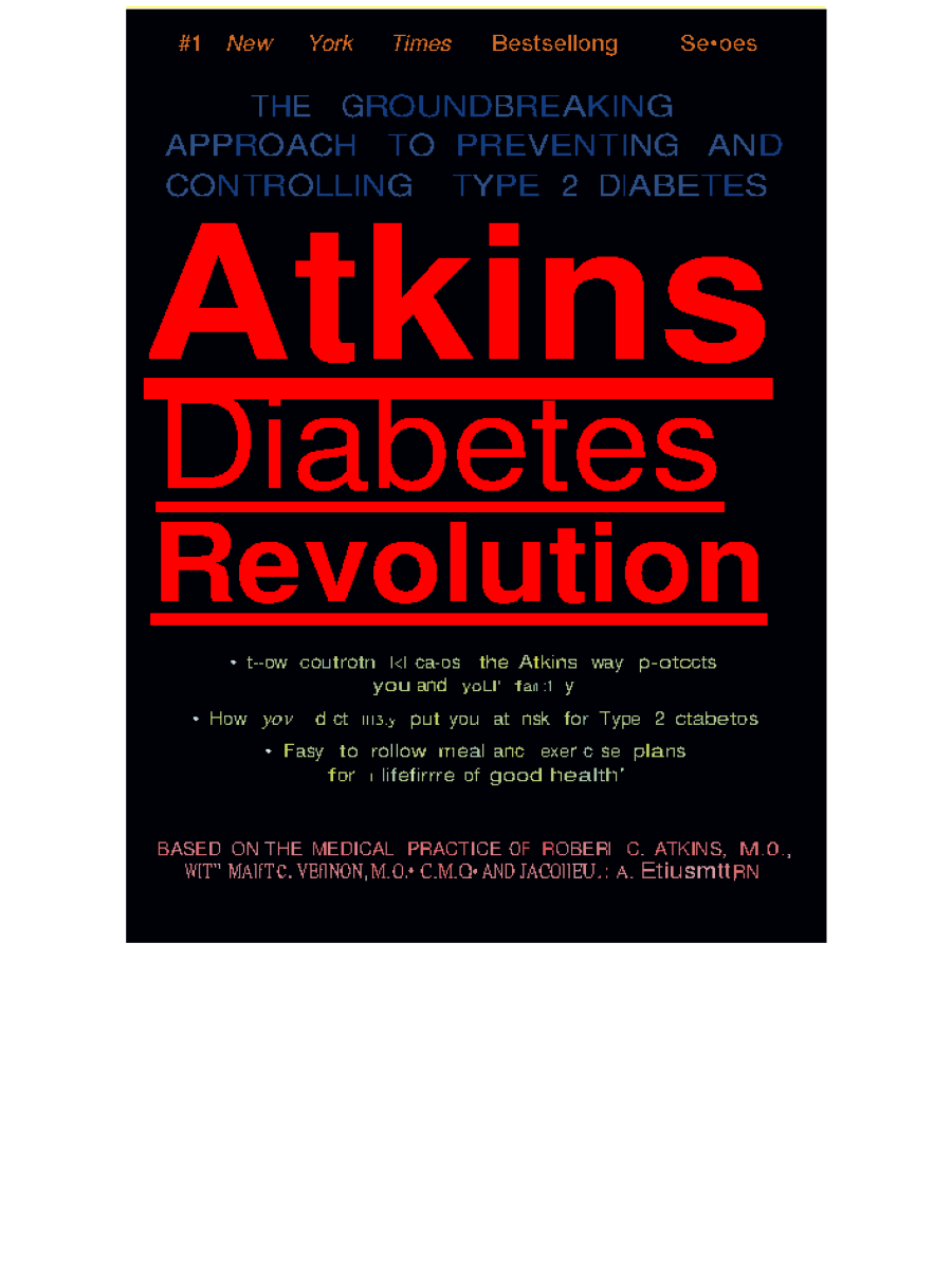 Atkins Diabetes Revolution Approach to Preventing Type 2 Diabetes ... 09826d6aac0d5