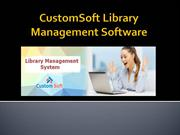CustomSoft Library Management Software