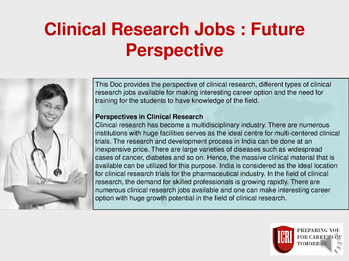 clinical research jobs post graduate diploma in clinical With clinical research positions