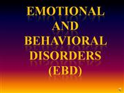 Behavioral and Emotional Disorders