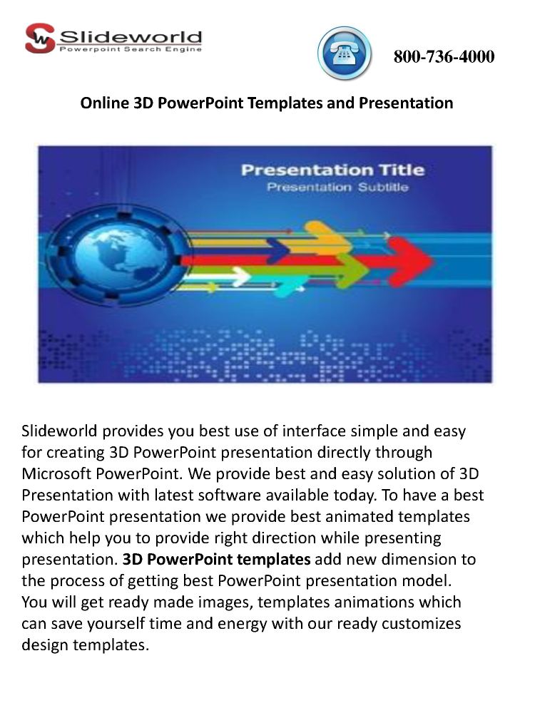 Online 3d Powerpoint Templates And Presentation Authorstream