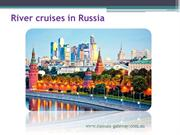River cruises in Russia