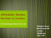 Affordable Garden Services in London
