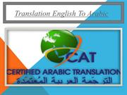 Translation English To Arabic