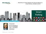 Workshop on Smart Parking Solutions for Service Delivery in Cities