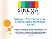 Corporate Video Production Companies That Are Worth Trusting