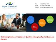 Optimizing Business 3 Quick Bookkeeping Tips for Business Owners