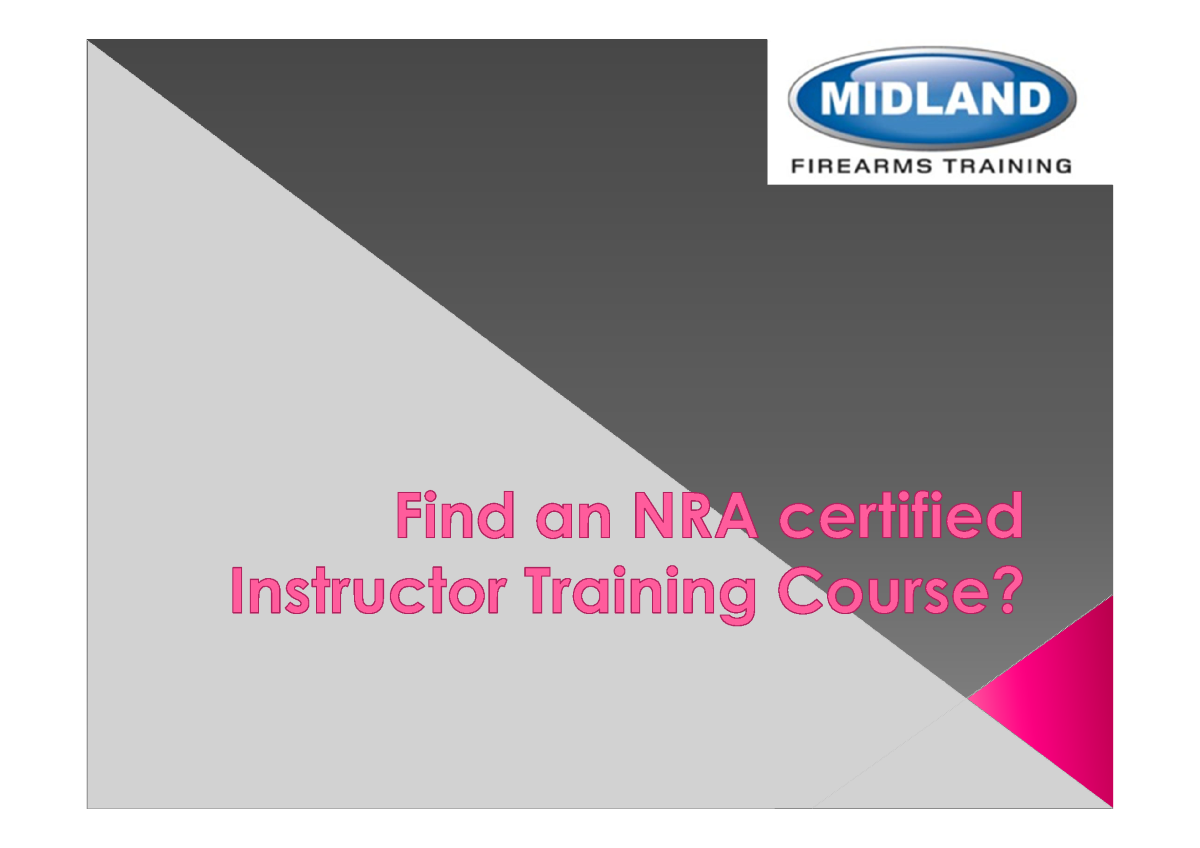 Find an nra certified instructor training course authorstream for Nra certificate template